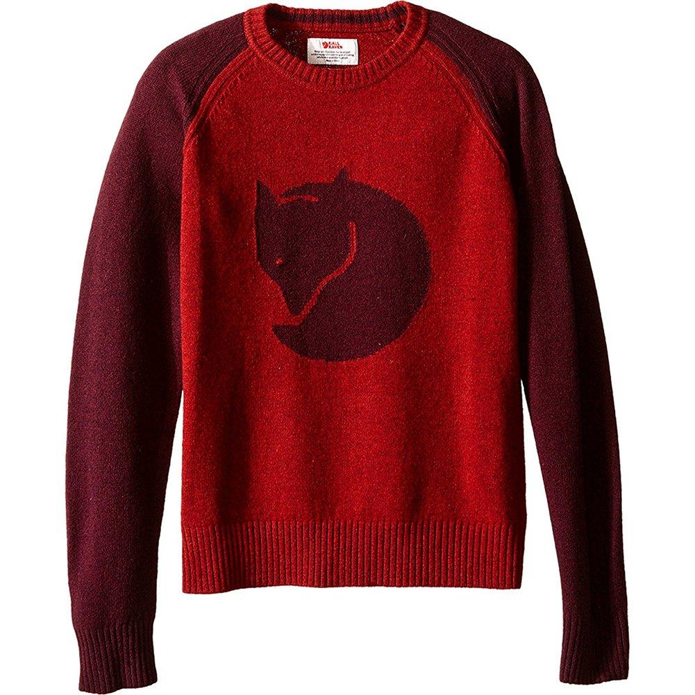 Fjallraven Kid's Fox Sweater, Dark Garnet, 134 by Fjallraven