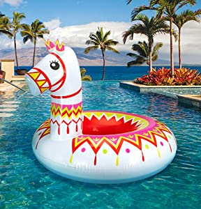 Geefuun Llama Pool Float Party Inflatable Alpaca Pinata Ride On Beach Swimming Ring Fiesta Mexican Water Toys Supplies - for Adults & Kids