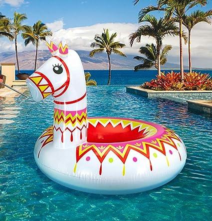 Amazon.com: Geefuun Llama Flotador de piscina Fiesta ...