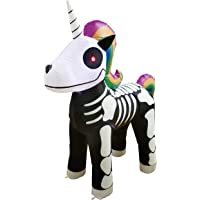 Joiedomi Halloween 5 FT Inflatable Skeleton Unicorn with Build-in LEDs Blow Up Inflatables for Halloween Party Indoor, Outdoor, Yard, Garden, Lawn Decorations