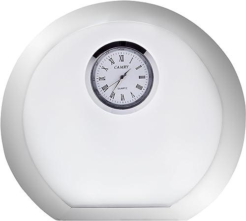 Orrefors Vision Round Desk Clock