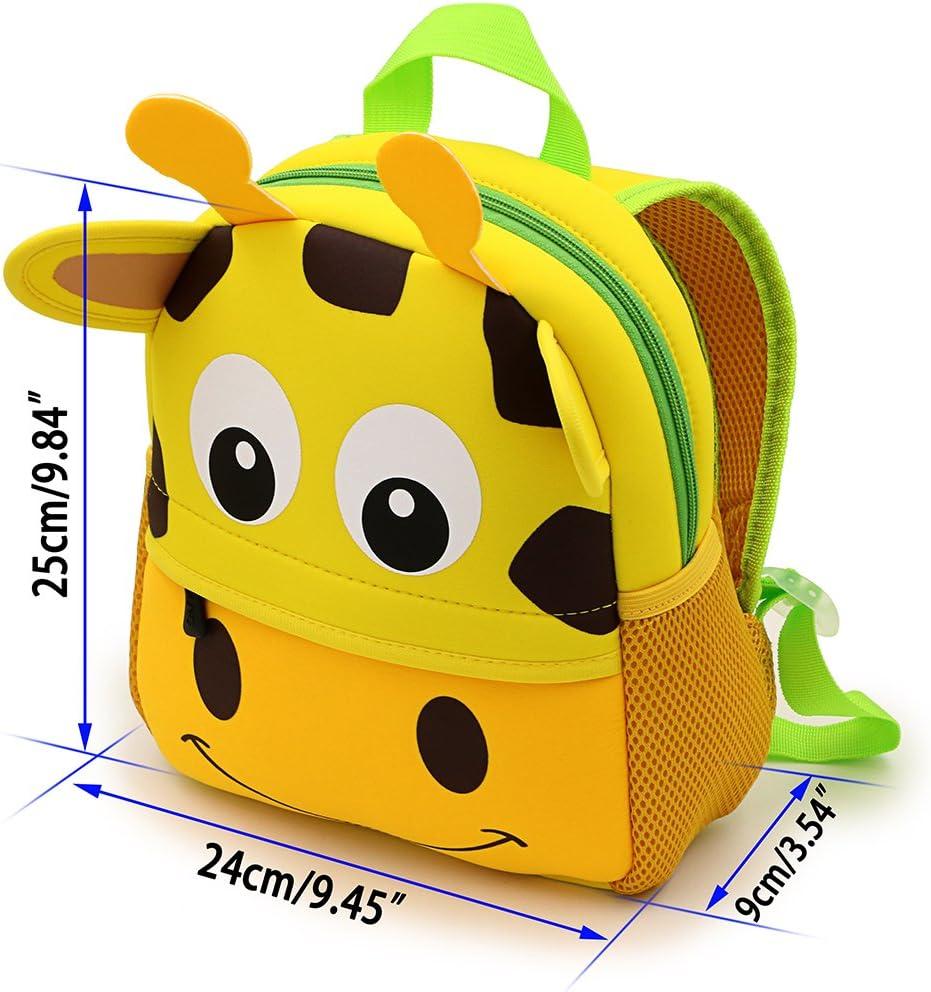 Sac /à dos mignon 1-7 ans Sumnacon Cartable Scolaire maternelle Cartable Girafe Figure Sac en N/éopr/ène pour B/éb/é Enfant Primaire Maternelle --- 25cm*28cm*9cm