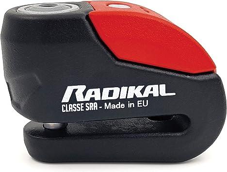 Radikal Rk10 Bremsscheibenschloss Alarm 120 Db Zugelassene Sra Doppelschließe ø 10 Mm Rot Auto