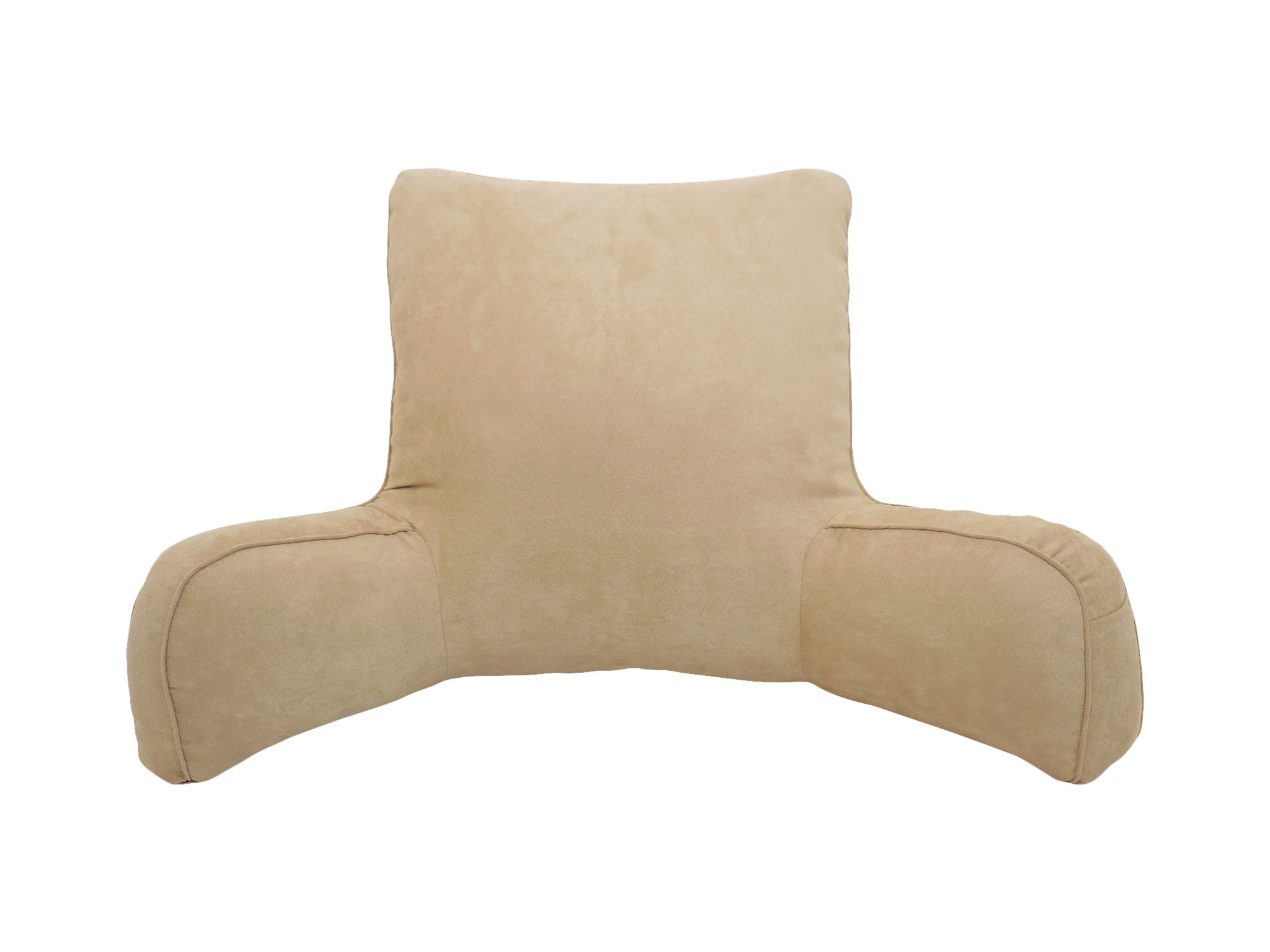 Arlee Suede Oversized Bedrest Lounger, Brush