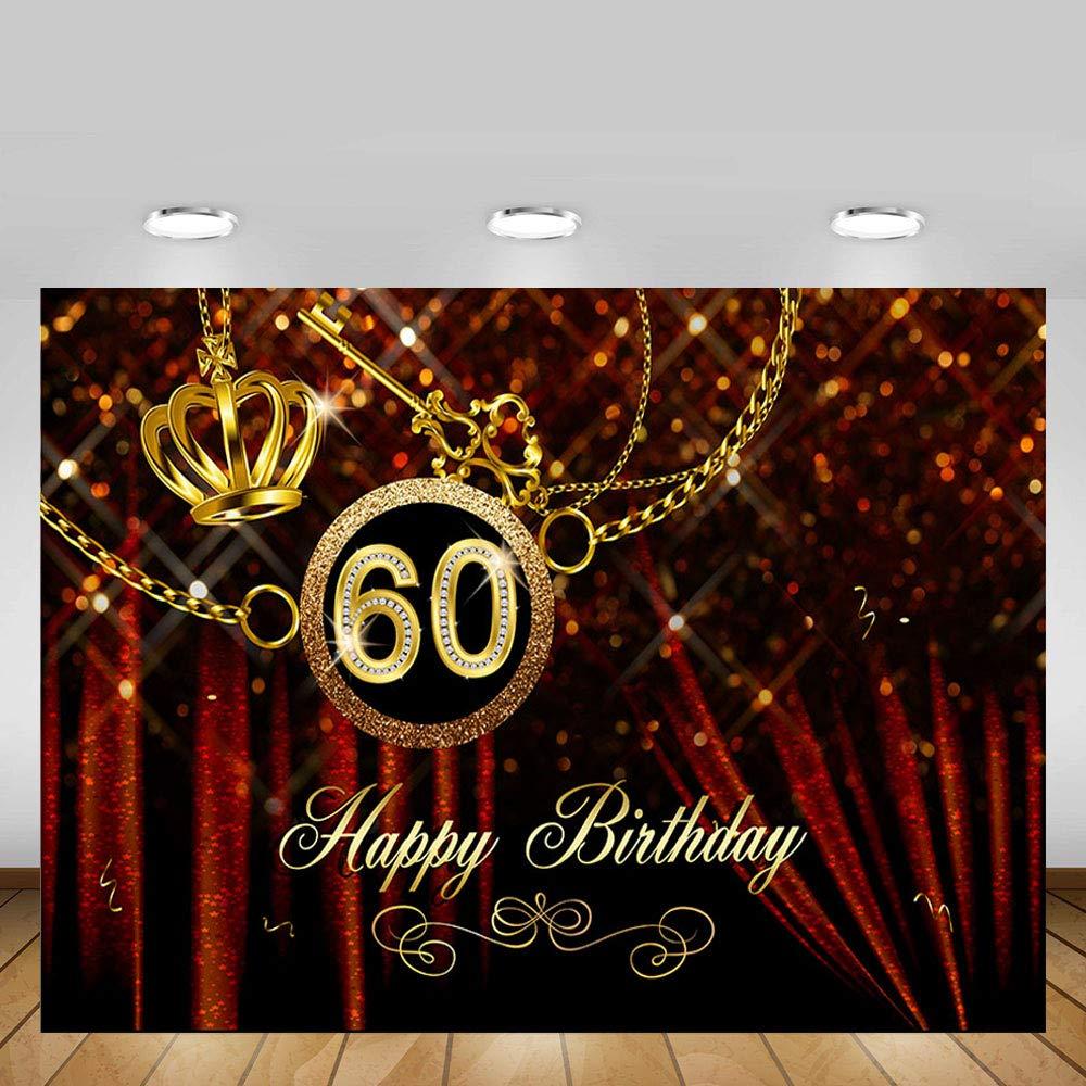 MEHOFOTO Cortina de color rojo casino tem/ático adulto Feliz Cumplea/ños estudio de la foto Fondos Bandera del partido 8x6ft Casino-Birthday1