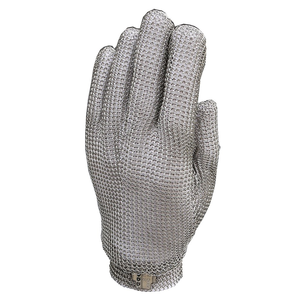 Anself Stainless Steel Mesh Knife Cut Resistant Chain Mail Protective Glove for Kitchen Butcher Working Safety (M) by Anself (Image #2)