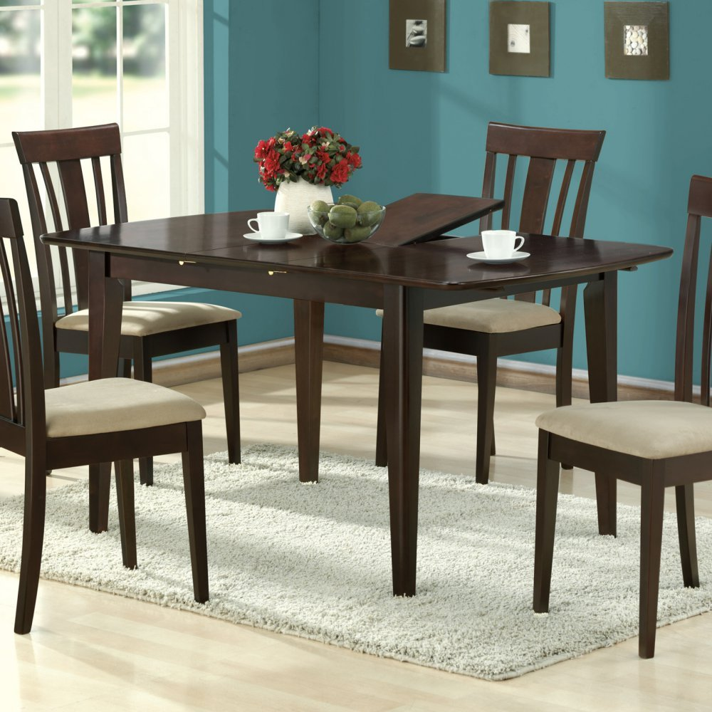Amazon.com   Monarch Specialties Dining Table With 12 Inch Butterfly Leaf,  36 Inch By 60 Inch, Cappuccino   Tables