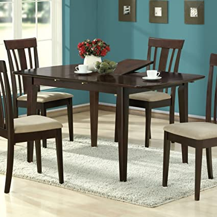 Monarch Specialties Dining Table With 12 Inch Butterfly Leaf, 36 Inch By 60