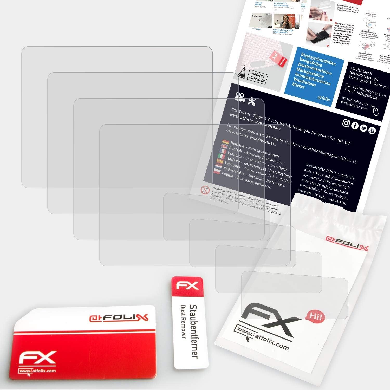 Set de 3 antirreflejos y amortiguadores FX Protector Pel/ícula atFoliX Pel/ícula Protectora Compatible con Canon EOS 60D L/ámina Protectora de Pantalla