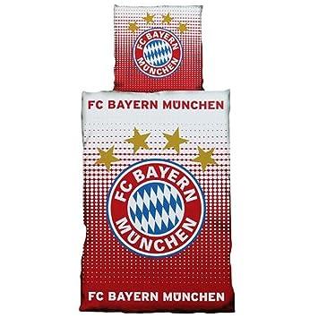 Fc Bayern München Bettwäsche Logo Rot Weiß 135x200 Cm Inkl