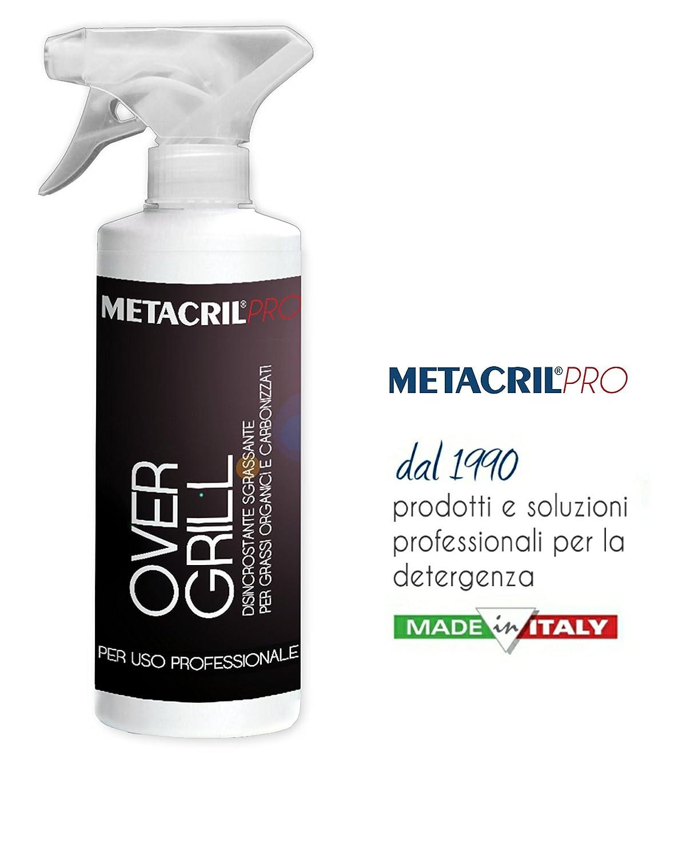 Metacril over Grill 750 ml - Desincrustante y desengrasante alta concentrazione para barbacoa y rejillas. Envío immediata: Amazon.es: Jardín