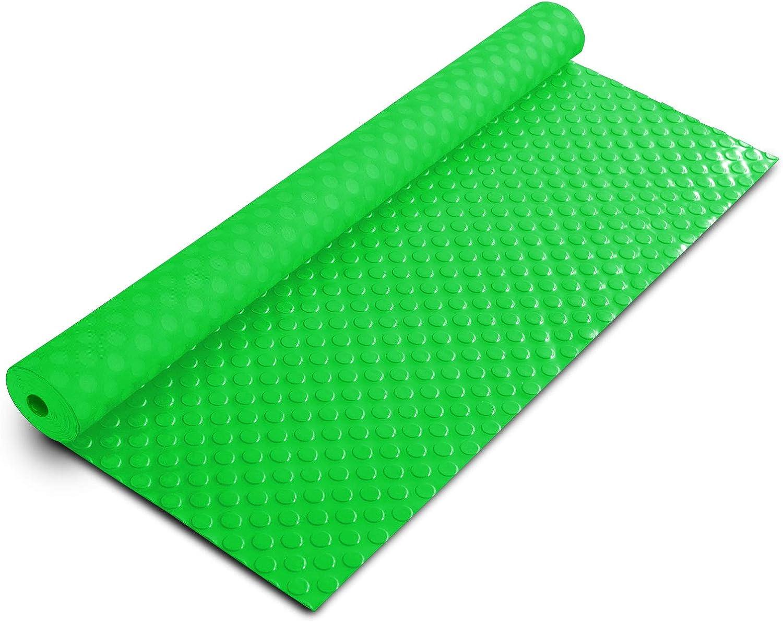 Tapis de Sol Pastill/é 2.2mm D/épaisseur Atelier Coffre Remorque Protection Pour Garage 120x450 cm Tapis PVC Antid/érapant Etc etm Rev/êtement de Sol Garage Gris
