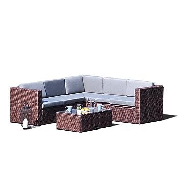 Amazon Com Sky Patio B1035 Br 4 Pieces Outdoor Furniture Complete