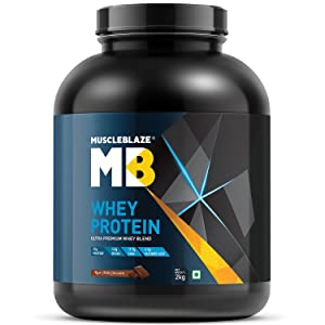Muscleblaze 100% Whey Protein Supplement Powder (Rich Milk Chocolate, 2 kg, 60 servings)