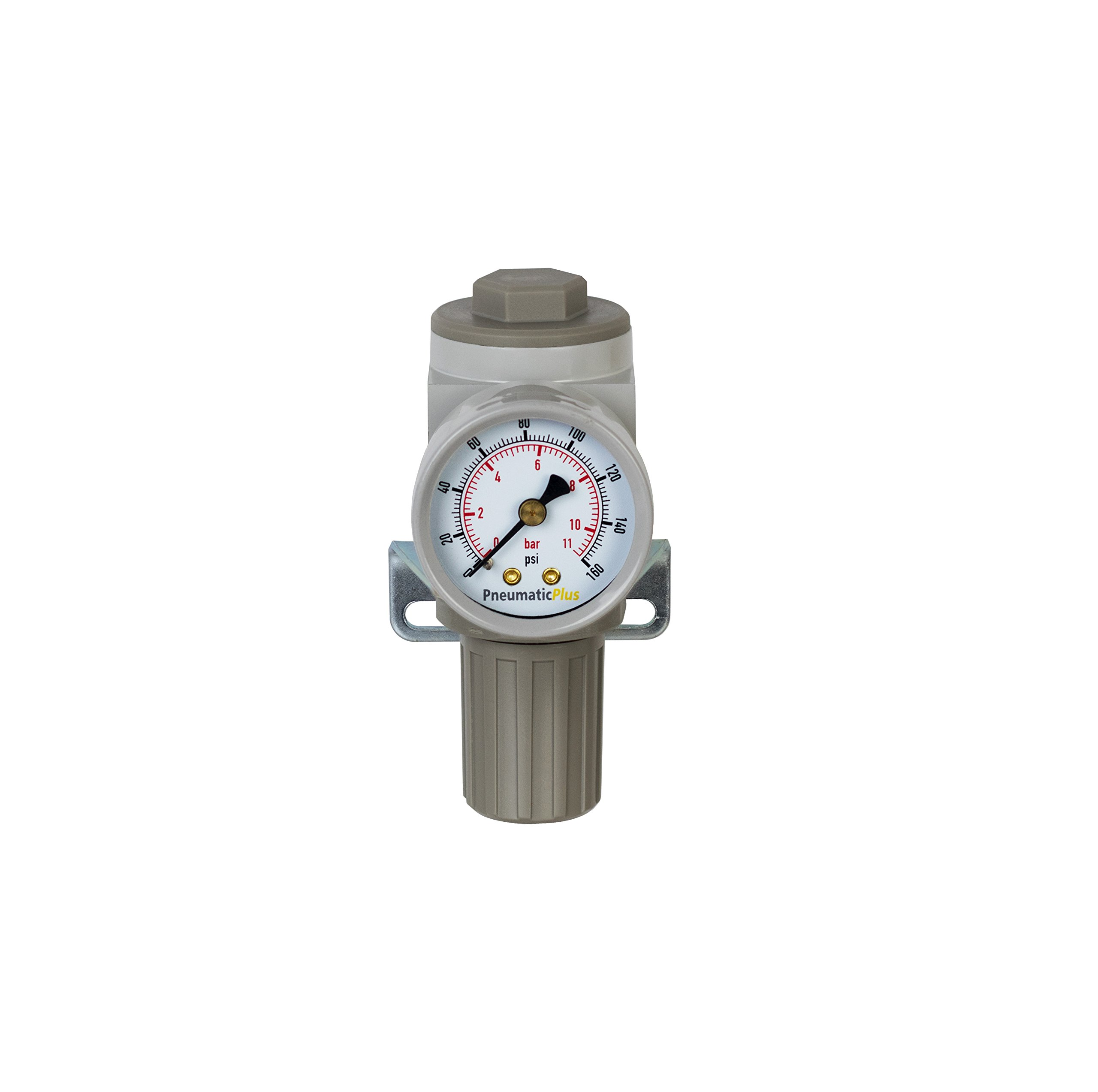 PneumaticPlus SAR2000M-N02BG Miniature Air Pressure Regulator 1/4'' NPT - Gauge, Bracket by PneumaticPlus (Image #5)