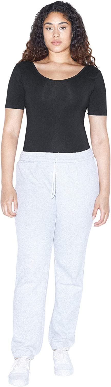 American Apparel Damen Cotton Spandex Short Sleeve Scoop Back Bodysuit Bodystocking
