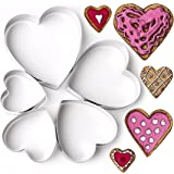 Heart Shape Cookie Cutter Set 5 pcs Biscuit, Pastry, Cutters Tin Plated Steeel Brilliant Kitchen Ideas