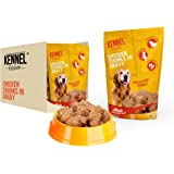 Kennel Kitchen Dog Food for Both Adult & Puppy Chicken Chunks in Gravy 100 Grams (10-Pack)