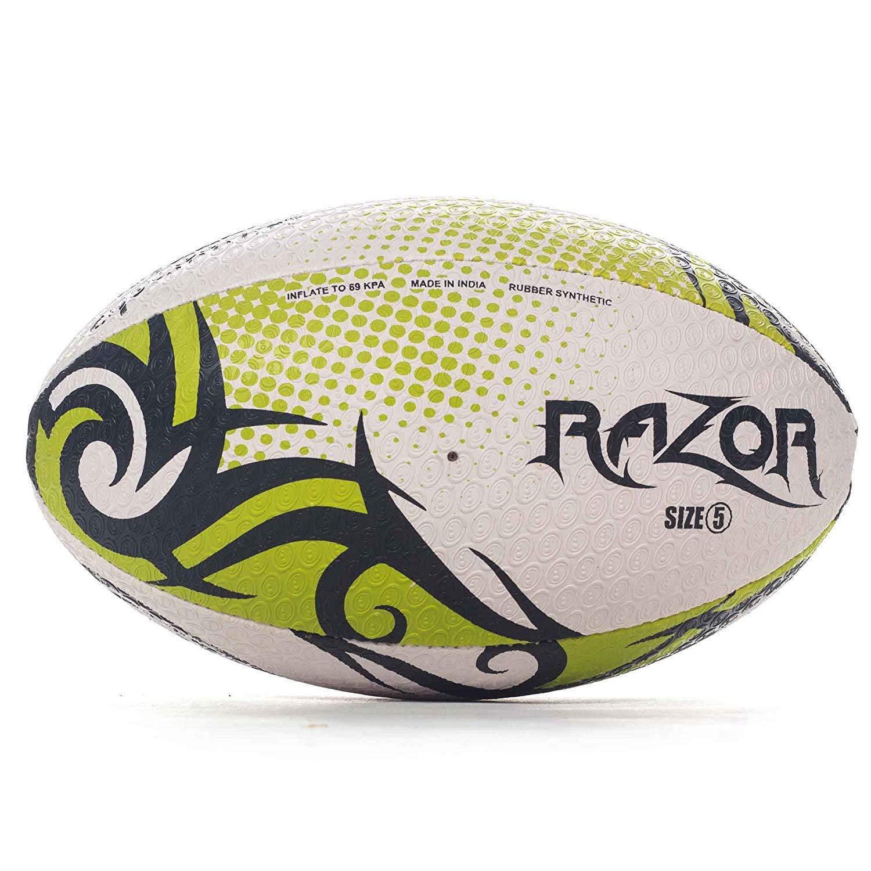 OPTIMUM Optimal Rasoir Ballon de Rugby League Union Noir/Jaune/Blanc