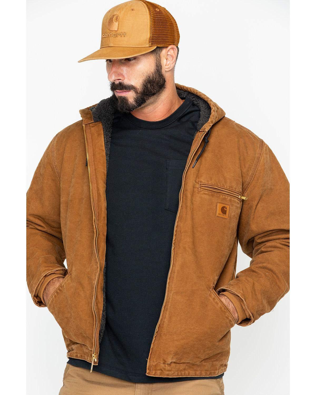Carhartt Men's Sherpa Lined Sandstone Sierra Jacket,Carhartt Brown,Large by Carhartt
