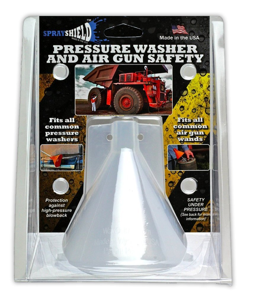 Sprayshield CP2 Protective Shield for Pressure Washers and Air Wands, Made in USA, Clear