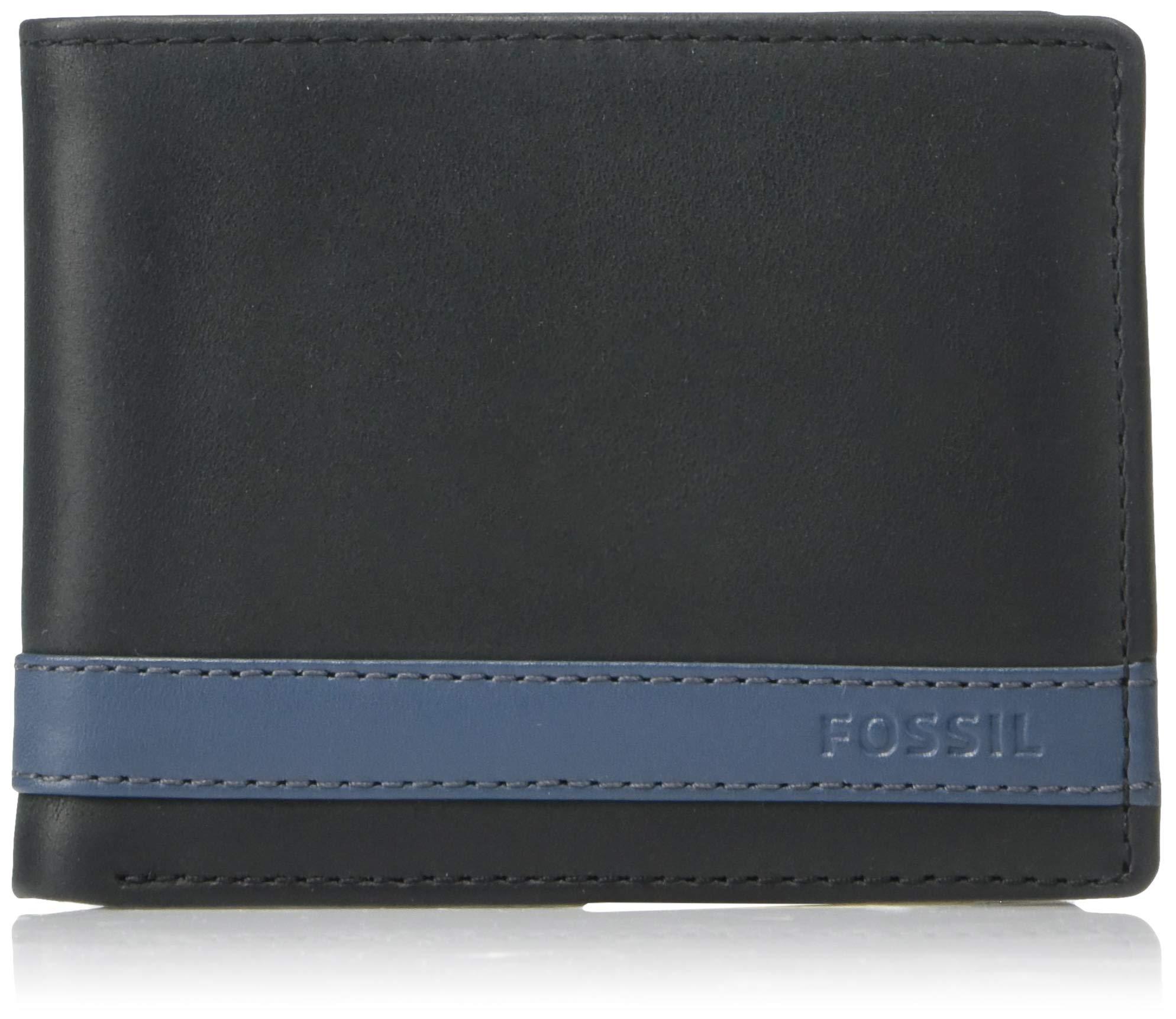Fossil Men's Leather Bifold Flip ID Wallet by Fossil