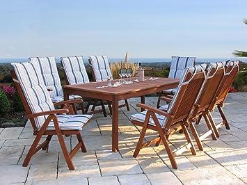 Terrassenmöbel gartenmöbel 17tlg mit 200cm tisch terrassenmöbel santos marine