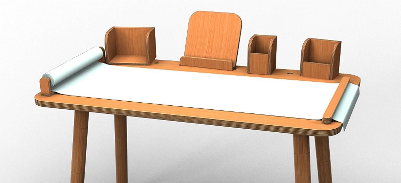 SET - Tisch + Tools  Grüng table  von Pure Psotion - Buche natur