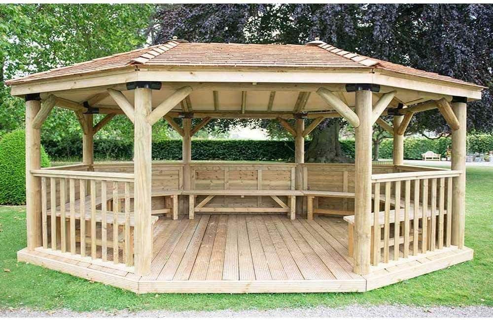 Forest - Cenador ovalado de 6 m de alta calidad con techo de ...
