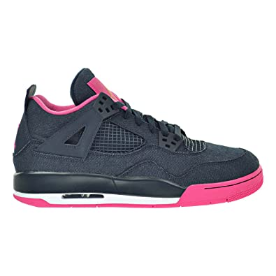 timeless design 1acf6 b08ca Jordan Air 4 Retro GG Big Kid s Shoes Dark Obsidian Gold Pink White