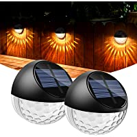 Solar Deck Light,Quntis Outdoor Solar Fence Light Garden Decorative ,Semicircle IP65 Waterproof Solar Post Wall Light…