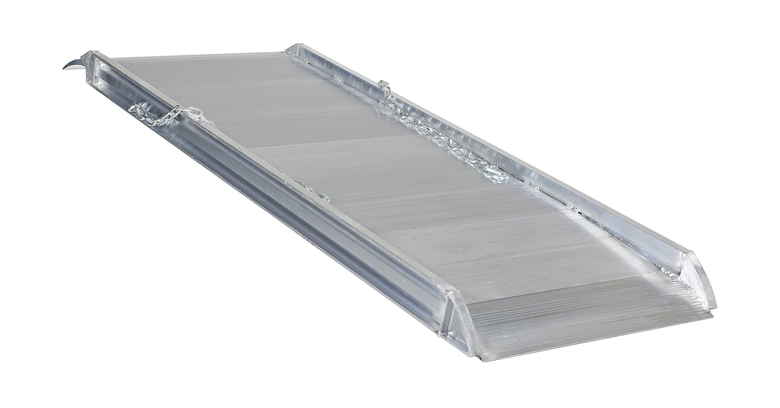 Vestil AWR-28-6A Aluminum Walk Ramp Overlap Style, 2800 lb., 72'' Length, 28'' Width, 4.75'' Height by Vestil