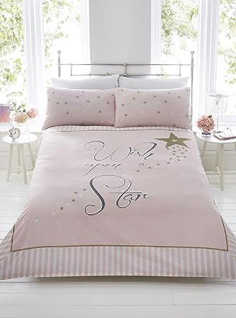 Beijinda Home Series Gold Auf Wunsch Mit Rosa Streifen Bettbezug