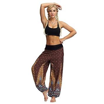 Baiomawzh Pantalones Yoga Mujeres Ancho Leggings De La India ...