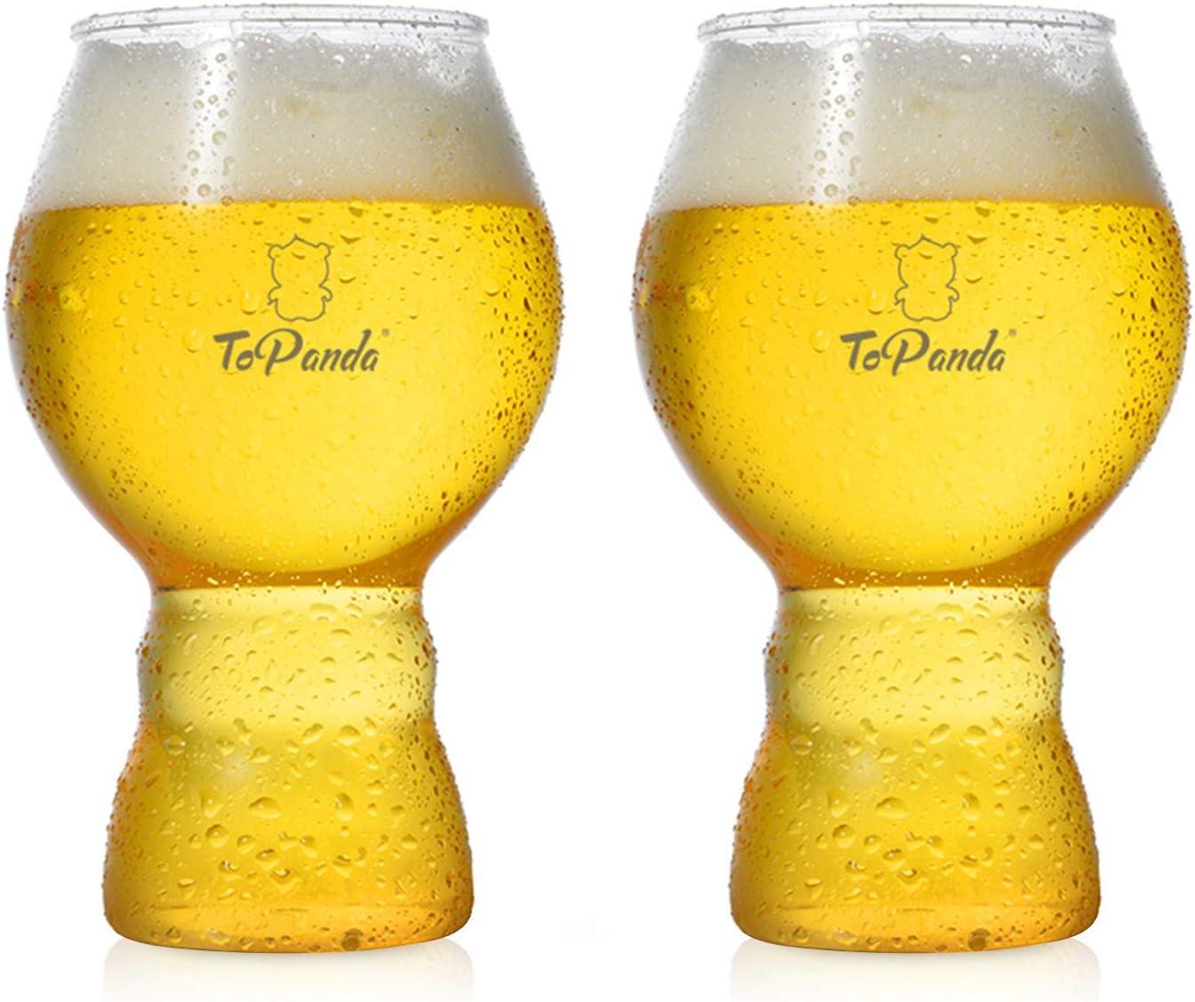 XGzhsa Jarra de cerveza, jarra de plástico, 2 tazas de cerveza duraderas a prueba de caídas y resistencia a altas temperaturas, jarras de cerveza creativas para bar en casa (Taza de copa, 560 ml)
