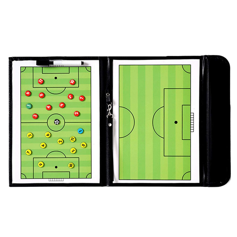 Football Tactics Board, Elisona Foldable Portable Erasable Magnetic Clipboard Football Soccer Tactics Board Kit Hand Ring Design Coach Tool Winning Strategy Elisona ca