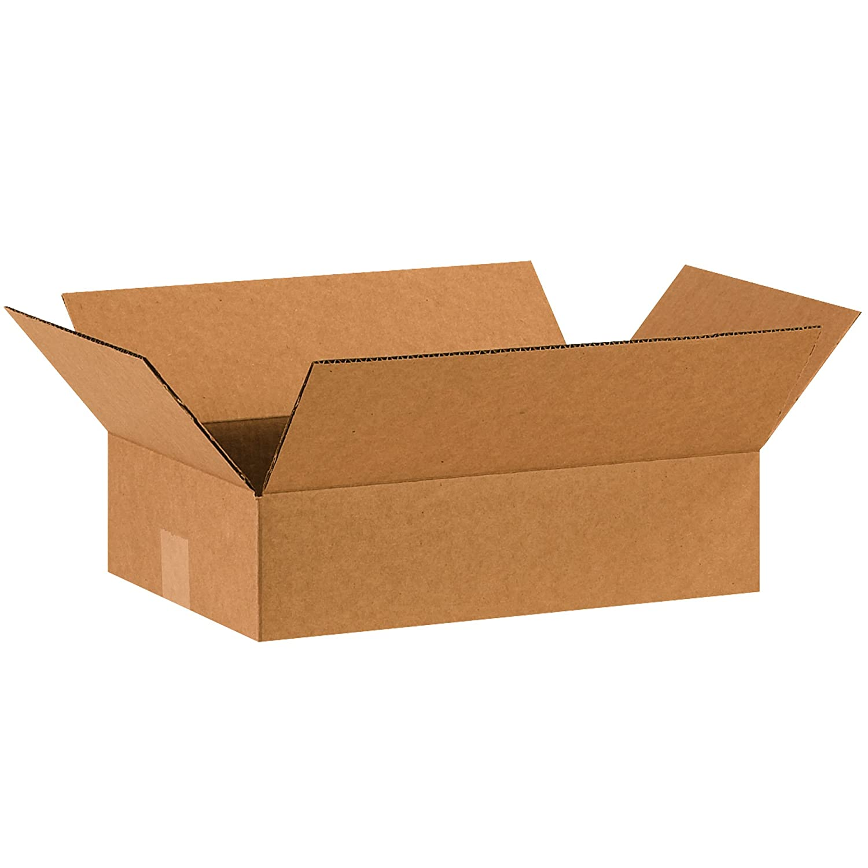 Pack of 25 16L x 10W x 4H Partners Brand P16104 Flat Corrugated Boxes Kraft
