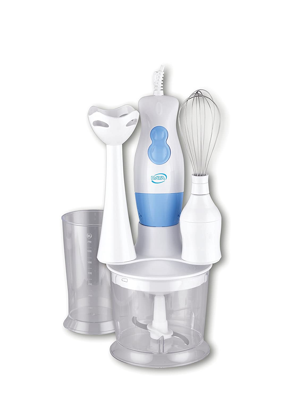 DAYA home appliances YW-0123A Set Frullatore ad Immersione con Kit Accessori, Bianco