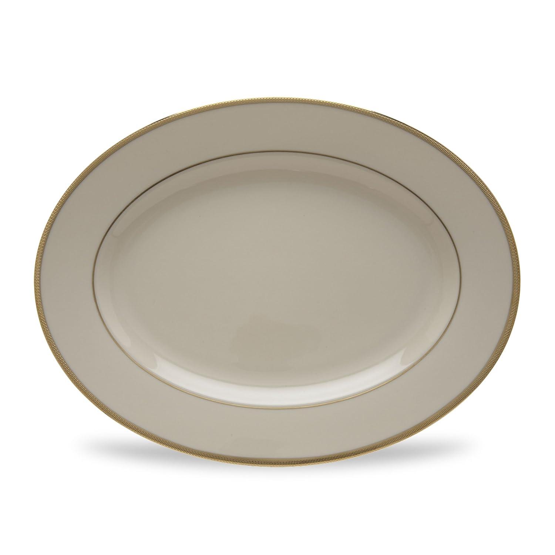 Lenox Tuxedo Oval Platter, 13-Inch