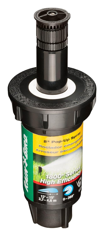 360/° Pattern 8-15 Spray Distance Adjustable 0/° 4 Pop-up Height Rain Bird 1804HEVN15 High Efficiency Professional Pop-Up Sprinkler