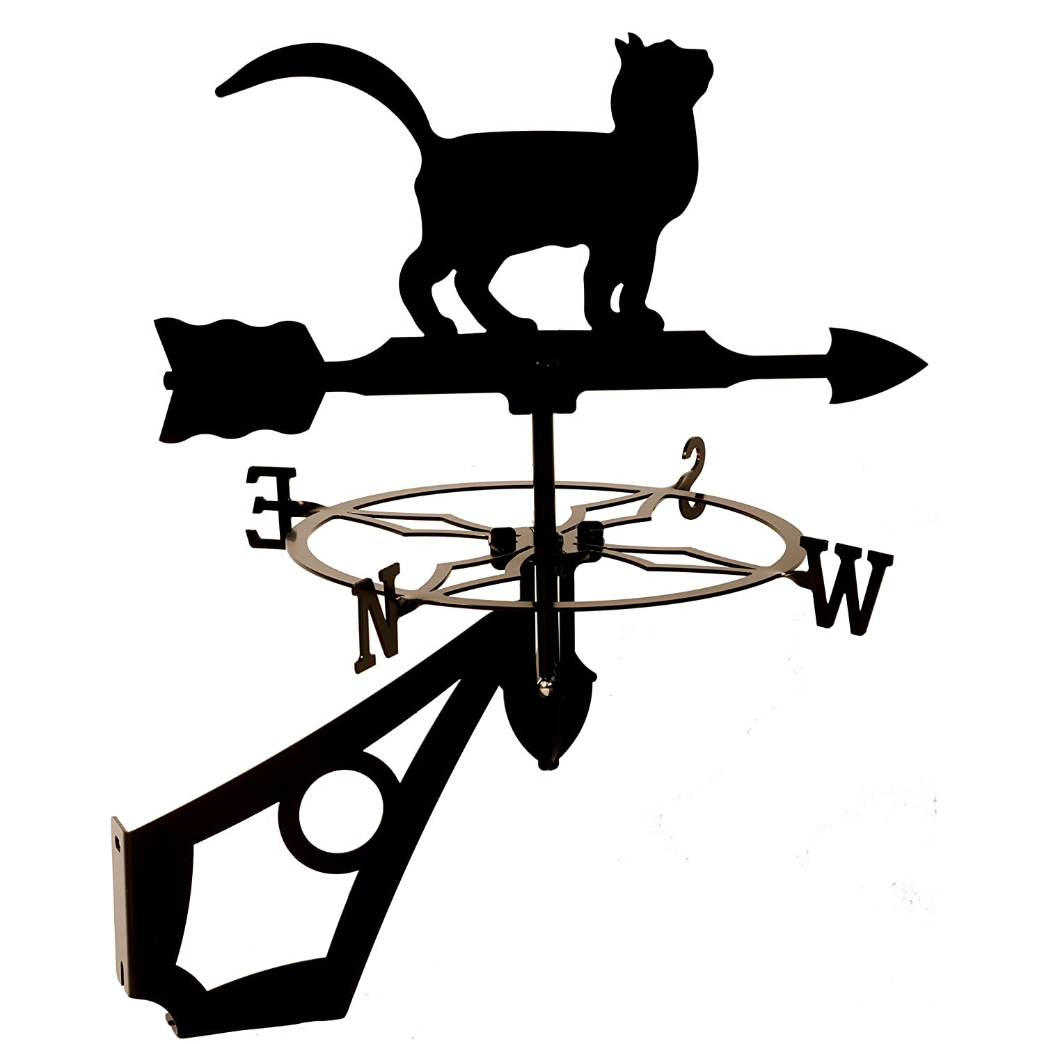 Dragon Laser Ltd. Cat, Feline Weathervane (W158BLK)