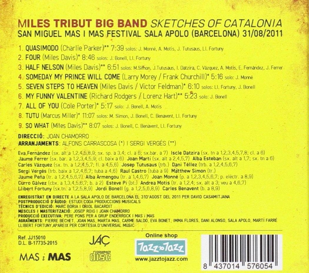 Sketches Of Catalonia: Miles Tribut Big Band, Joan Chamorro ...