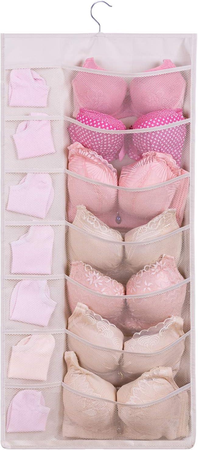 sujetador westeng ropa interior organizador para pa/ñuelos Blanco calcetines y cuello corbatas cajas de almacenamiento organizador plegable 30*10*35cm 24/celdas con tapa rosa ropa interior