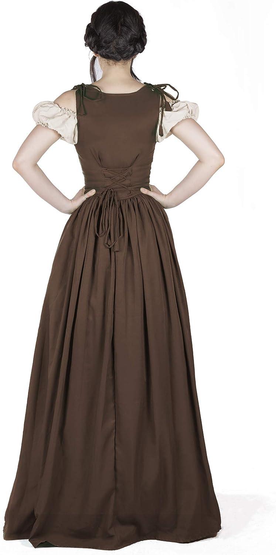 Boho Set Medieval Irish Costume Chemise and Over Dress