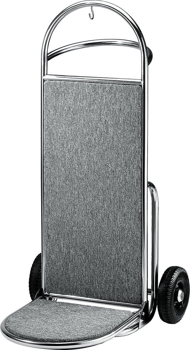 Equipaje carrito transportador Hotel coche maleta coche furgoneta vertical de acero con efecto plateado metalizado: Amazon.es: Hogar