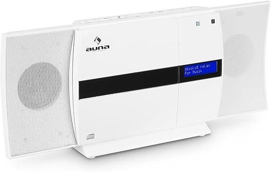 auna V-20 - Equipo estéreo , Minicadena , Reproductor de CD , Dab+ , FM , Bluetooth , Conexión NFC , USB , MP3 , Mando Distancia , Pantalla LED con ...