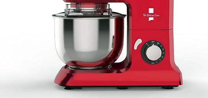 The Deluxe Line   3 en 1 robot de cocina máquina de picar carne Licuadora – Amasadora   Masa para hacer pan 6,5 litros, 3,5 kg, Rojo: Amazon.es: Hogar