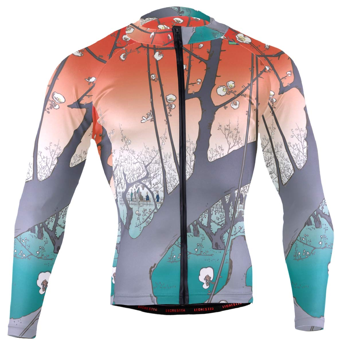 27686a239ac Amazon.com: Ukiyoe Ukiyo-E Print Men's Cycling Jersey Long Sleeve Bike  Jacket Biking Bicycle Jersey Shirt: Clothing