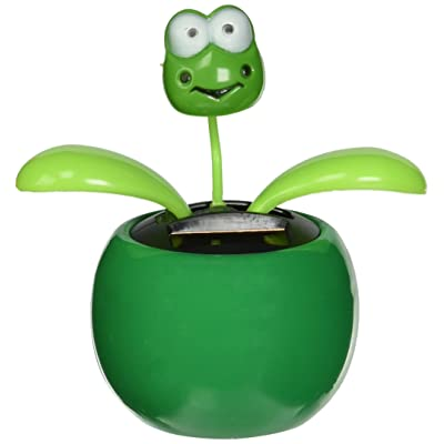 Solar Dancing Flower - Frog (Colors May Vary): Toys & Games