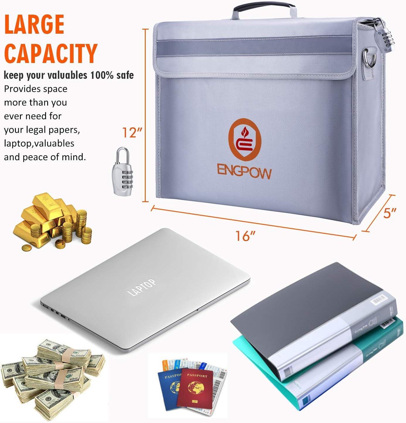 Fire Proof Tasche Cash Dokument Sicher Tasche Fire wasserabweisend Material 23/x 30/cm